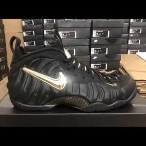 e40e11c0922 Nike Shoes - Air Foamposite Pro Black and Gold Pre Order